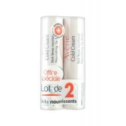 Avène cold cream stick lèvres lot de 2x15g